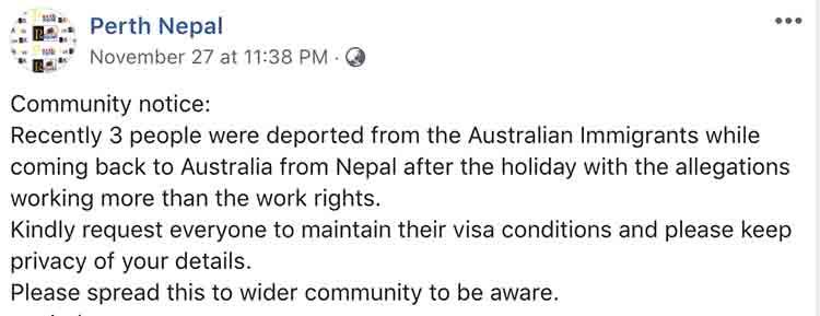 Australian student visa conditions breacher, not allow to comeback - NepaliPage
