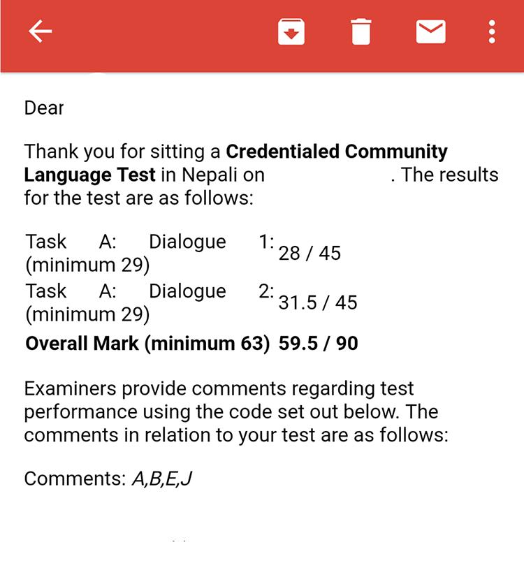 Reasons student fail NAATI CCL Test - NepaliPage